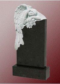 Памятник А4 с  ангелом из гранита