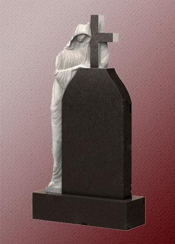 Памятник А6 с ангелом и крестом из гранита