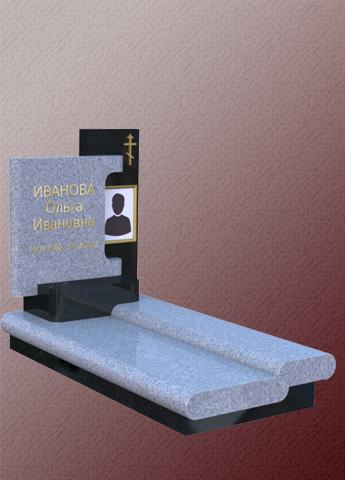 Памятник B19 из гранита комбинированный