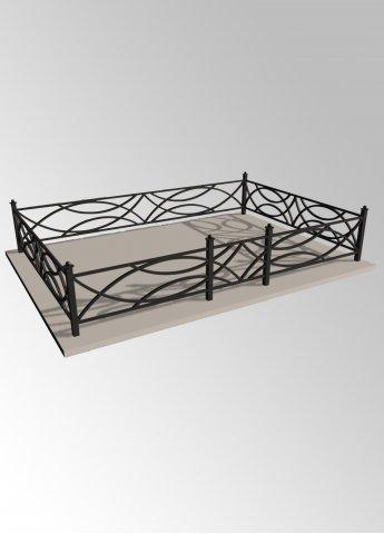 Ограда 10 металлическая