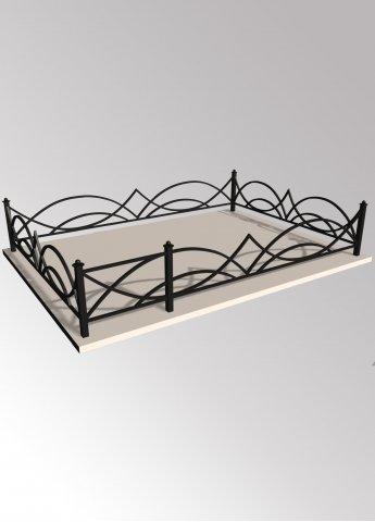 Ограда 11 металлическая