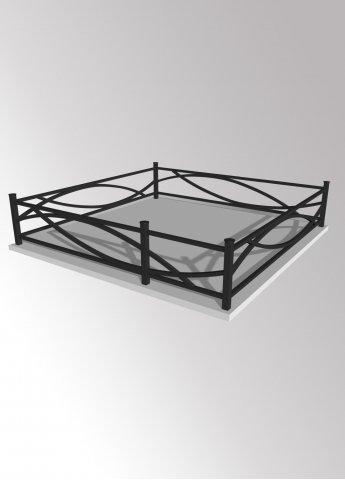 Ограда 15 металлическая