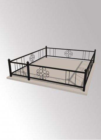 Ограда 41 металлическая