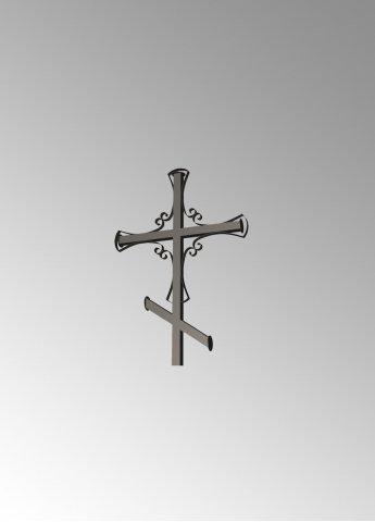 Крест с узором 1 металлический