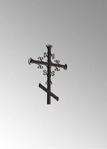 Крест с узором 2 металлический