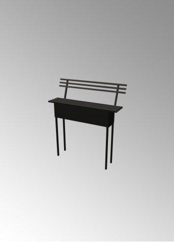 Скамейка C4 с ящиком и спинкой