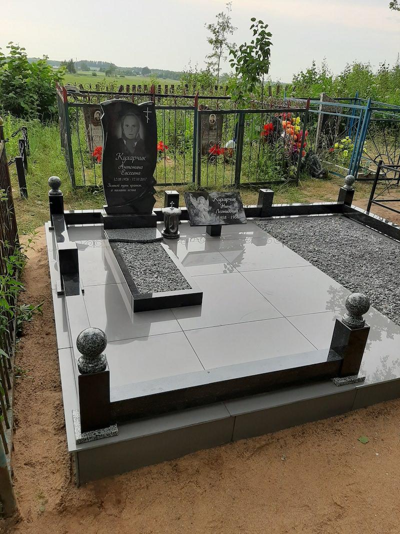 ограда из гранита на могилу